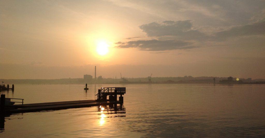 Sunrise at GEOMAR